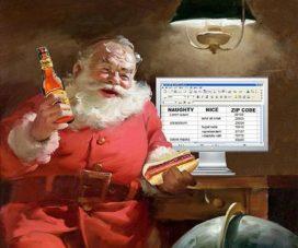 Sint en Santa shoppen onder werktijd