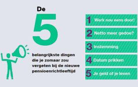 5 aandachtspunten voor de nieuwe pensioenrichtleeftijd